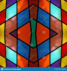 Abstract Design Abstract Design With Stained Glass In Various Colors