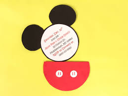 a diy mickey mouse party invitation idea for a mickey party jam blog diy mickey mouse party