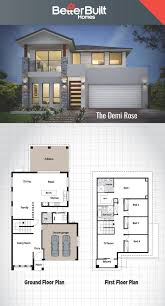 lot linese plans small narrow home floor modern post