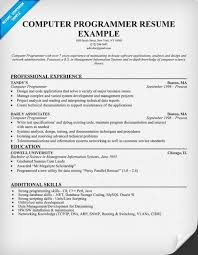 Resume For Computer Programmer Http Jobresumesample Com 1418