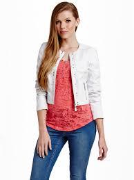 guess women s jorgina cropped faux leather jacket guess women 039 s jorgina cropped faux leather