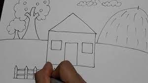 Vẽ ngôi nhà 1. //MaiThi// - YouTube