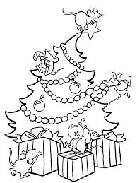 Christmastreemice Big Coloring Page Free Printable