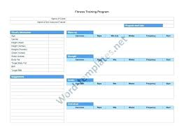 Download Free Workout Chart And Fitness Template Sheets 24 Hour