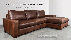 contemporary leather sofa sleeper. cococo home provides a unique shopping experience when compared to high-end furniture stores, offering custom leather or fabric furniture. contemporary sofa sleeper