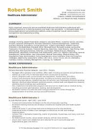 Healthcare Professional Resume Sample Healthcare Administrator Resume Samples Qwikresume