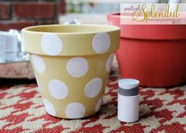 polka dotted tiered planters positively splendid crafts sewing recipes and home decor