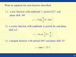 21 write an equation