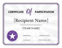 Certificate Participation Template Free Launchosiris Com