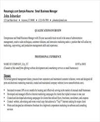 small business operations manager resume small business manager job description
