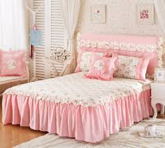 girls bed skirt. Brilliant Girls Girls Bed Skirt Cover 100 Cotton Twin Full Queen King Size Sheet  Floral Print Decoration Pink Blue Green Color Set 18 Inch Drop Bedskirt Extra  Inside L