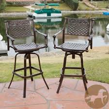 outdoor swivel bar stools all weather