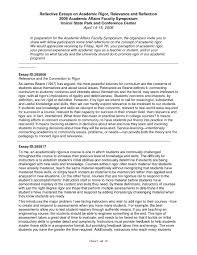 Reflective Essay Introduction Example Template Of Writing In English