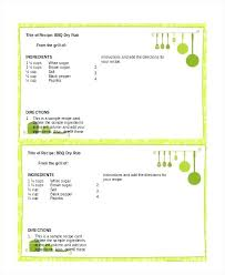 Recipe Blank Template Blank Recipe Card Template For Word Printable Lccorp Co
