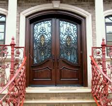 Double Front Entry Doors With Glass Spaces - Before And After A Tiny ...