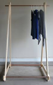diy clothing rack wood frame by two thirty five designs