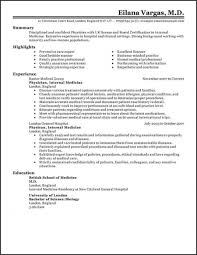 Free Medical Resume Templates Fascinating Resume Templates Medical Resume Template Free Best Doctor Resume