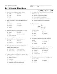 Common organic Chemistry Test Questions | Homeshealth.info