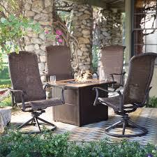 belham living charter all weather wicker swivel rocker 32 in fire within swivel rocker patio chairs