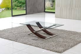 fascinatig brown and silver rectangle modern glass wood and aluminum modern glass coffee table laminated ideas