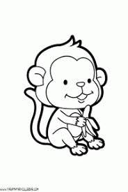 Monitos Tiernos Para Colorear Dibujos Para Colorear De Animales Monos Dibujos Para