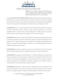 Av. João Pessoa Guerra, nº 37, Ilha de Itamaracá, PE, CEP 53900-000 CNPJ:  09.680.315/0001-00 DECRETO Nº 007-A/2020, DE 23 DE