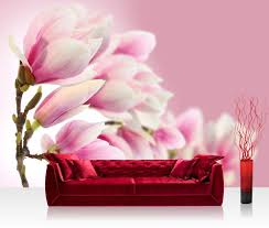 Foto Behang Roze Magnolia Vliesbehang 300x210cm Of 400x280cm