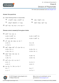 division of polynomials worksheet grade 10 them and try to solve