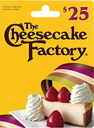 the cheesecake factory gift card 25