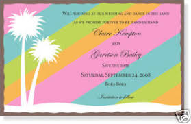 Tropical Party Invitations 10 Luau Or Tropical Party Invitations Super Cute Printed Ebay