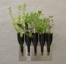 Wine Bottle Herb Planter. Image Source