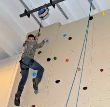 build area s first rock climbing wall