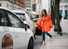 chicago fashion blogger hallie wilson wearing the best colorful winter coats at nyfw fashion week 207