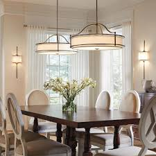 how high above a dining room table should chandelier hang