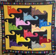 160 best Tessellating Quilt Patterns images on Pinterest | Quilt ... & Cat Quilt Patterns | Taniwa: Tessellating Cats finished (sort of) Adamdwight.com