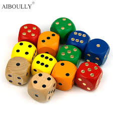 Making Wooden Games 100 mm wooden model dice game making all sorts of design color The 39