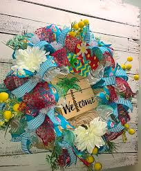 summer wreaths for front doorON SALE Summer Wreath Summer Wreath for Front Door Summer Palm