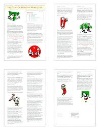 Newsletter Template Family Christmas Free Images Of Letter Download