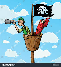 Royalty Free Stock Illustration Of Cartoon Pirate Scout Parrot On