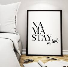 wall art decor printable art poster namastay in bed a beautiful wall decor for your on pretty wall art decor with calm feeling with wall art decor blogbeen