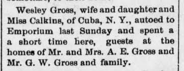 A.E. Gross, hospitality 1910 - Newspapers.com