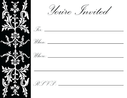 black and white printable birthday cards birthday invitations to print out free party printable black and
