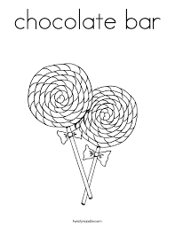 Small Picture chocolate bar Coloring Page Twisty Noodle