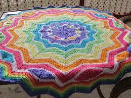 Round Afghan Crochet Pattern