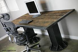 industrial office desk. Full Size Of Office Furniture:office Workspace Modern And Cool Conference Room With Black Industrial Desk