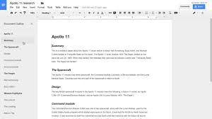 Google Doc Format Googles New Docs Outline Tool Will Make It Easier To Navigate Your