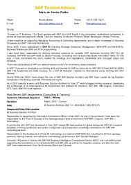 Sap Fico Resume Resume For Study