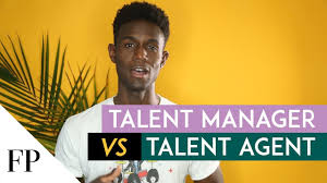 a talent manager and a talent agent