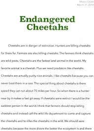 essay contest why should we save cheetahs  mason ockel 2 mason ockel 3