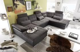 Couch Braun Grau